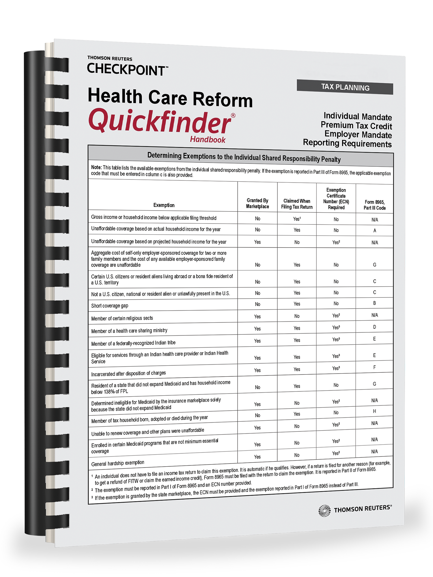 Health Care Reform Quickfinder Handbook (2018) – #3890