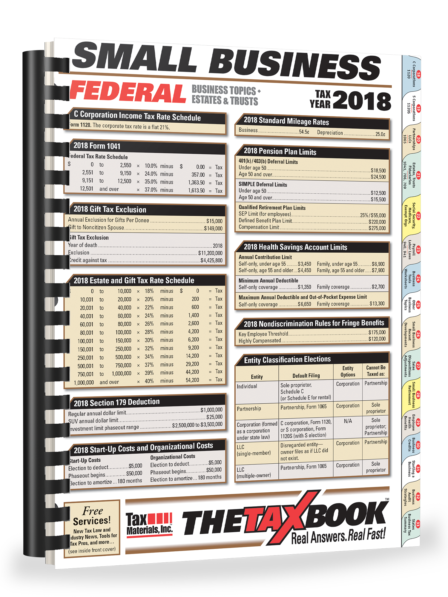 TheTaxBook Small Business Edition (2018) - #3894