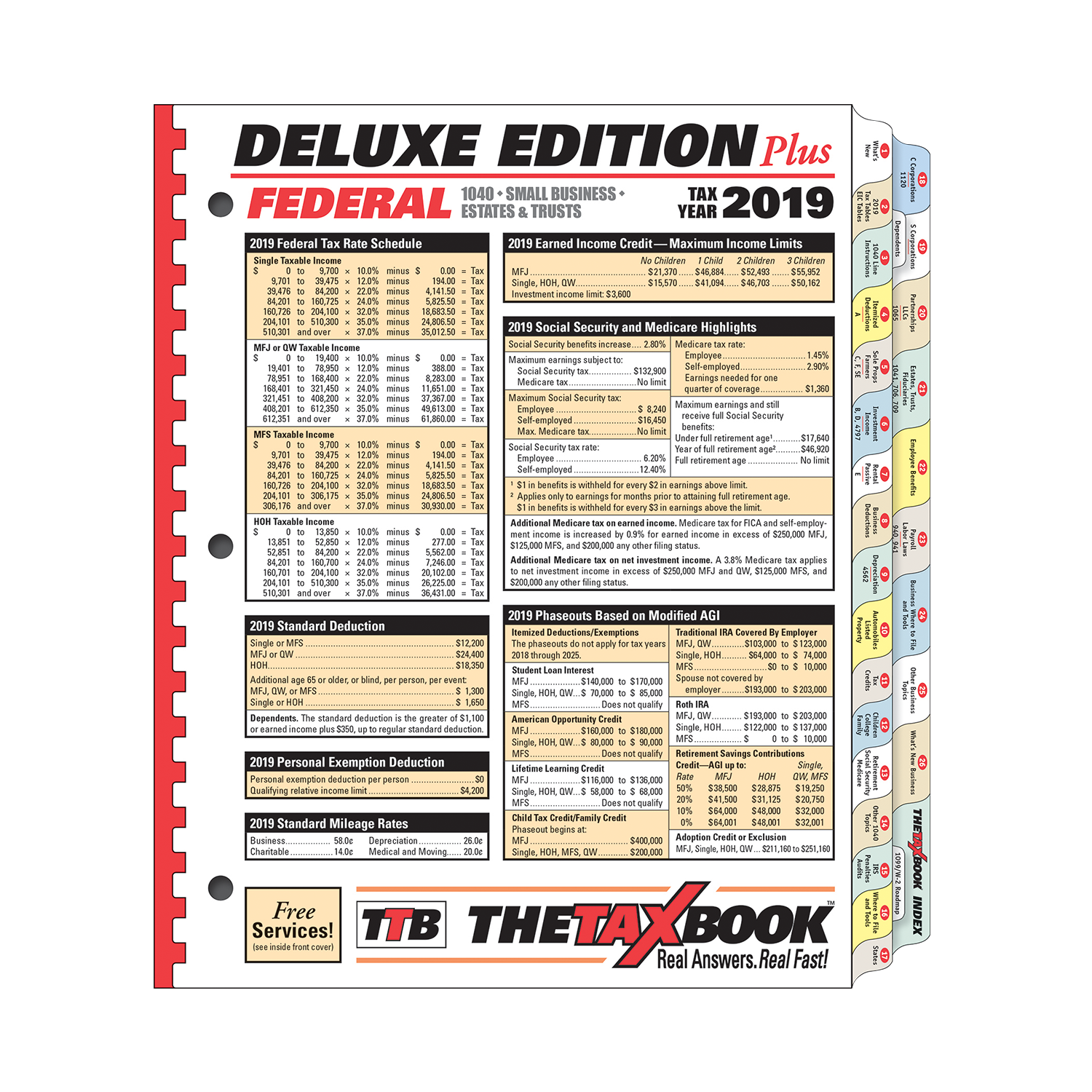 TheTaxBook Deluxe Edition Plus Fast Answer Tax Book (2019) - #3982