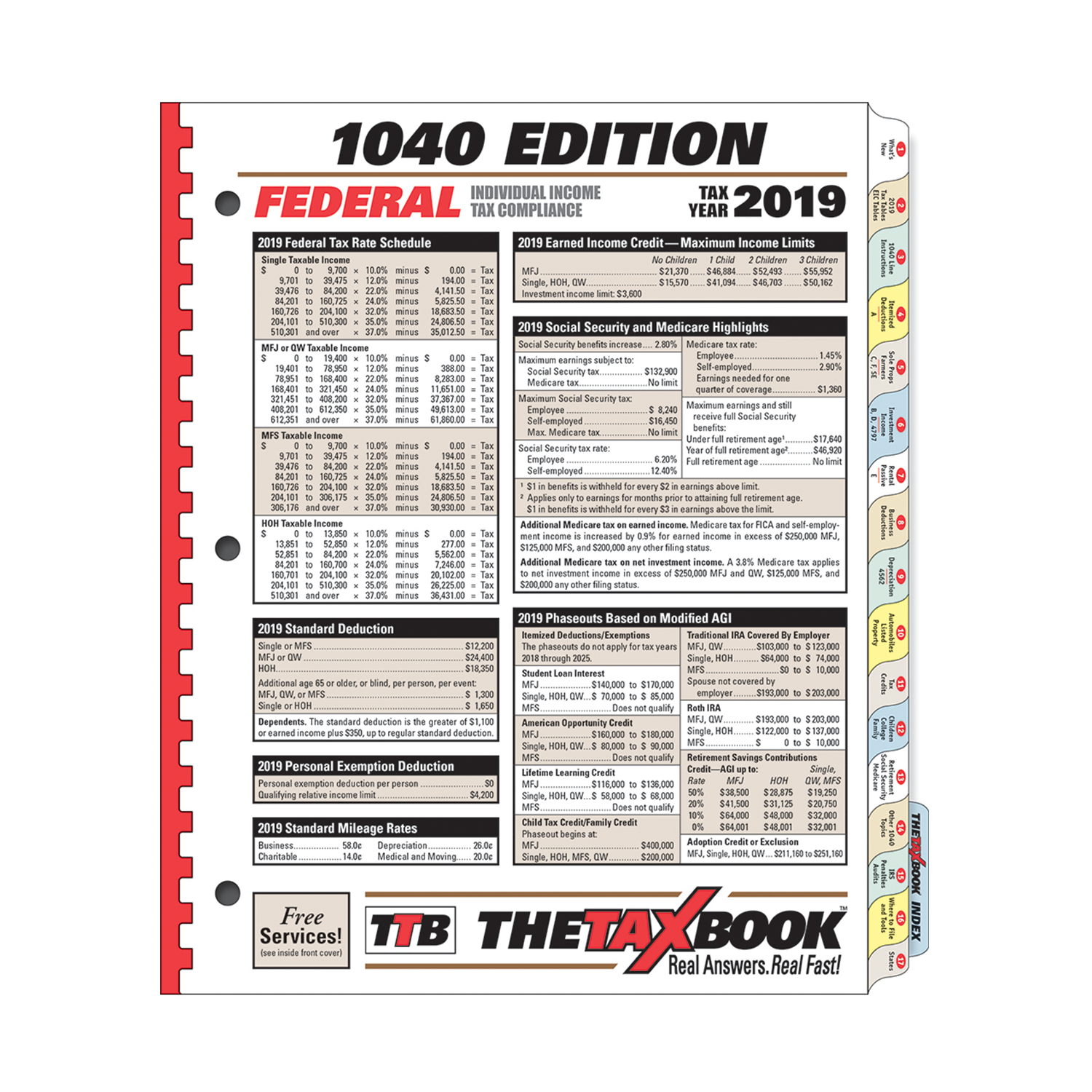 TheTaxBook 1040 Edition Fast Answer Tax Book (2019) - #3983