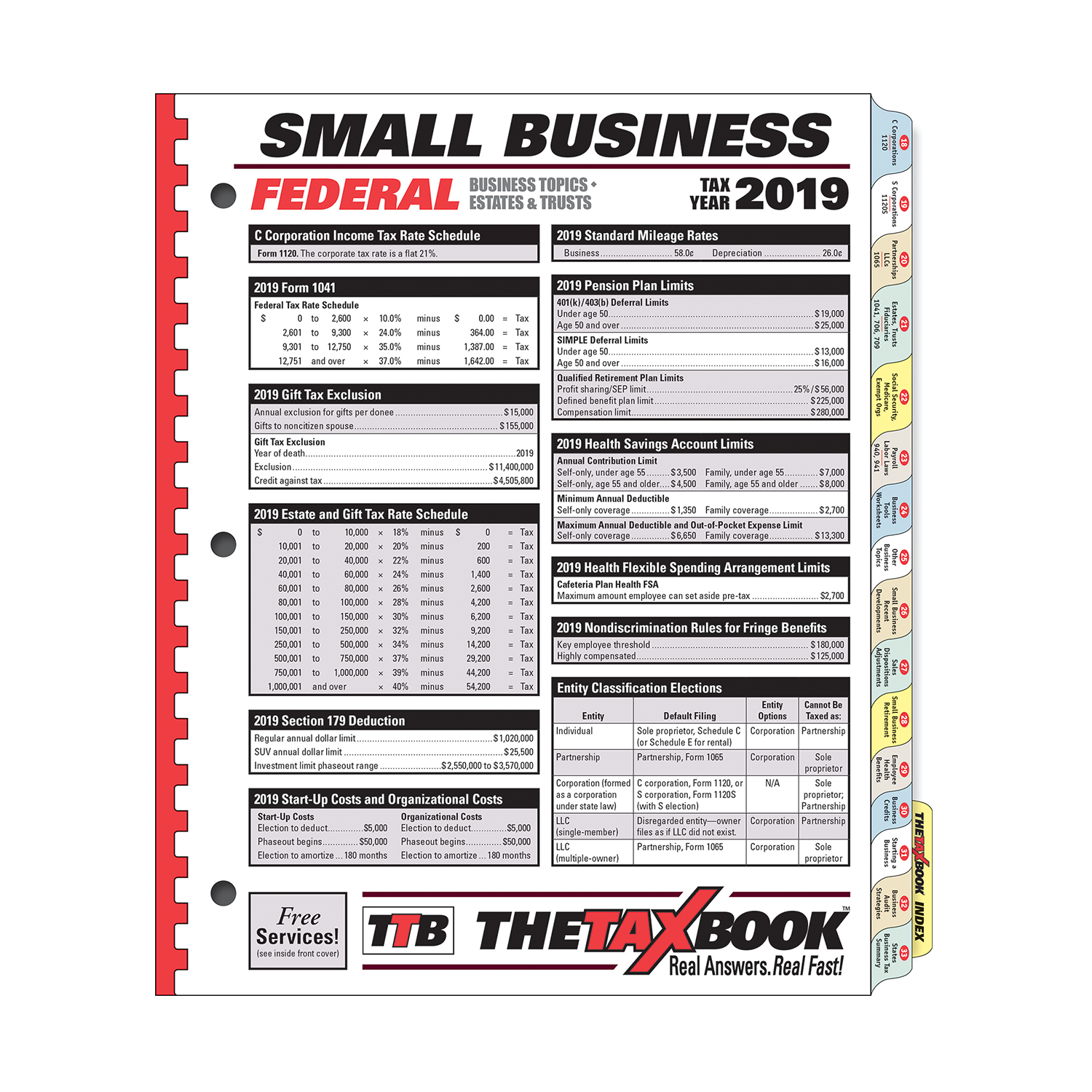 TheTaxBook Small Business Edition (2019) - #3994