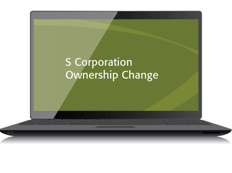 S Corporation Ownership Change Textbook (2015) – Electronic PDF Version - #4430E