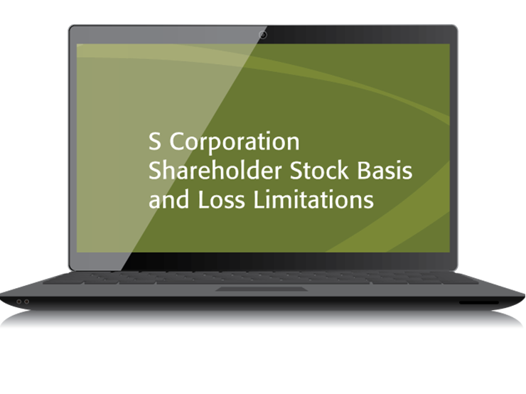 S Corporation Shareholder Stock Basis and Loss Limitations Textbook (2015) – Electronic PDF Version - #4431E