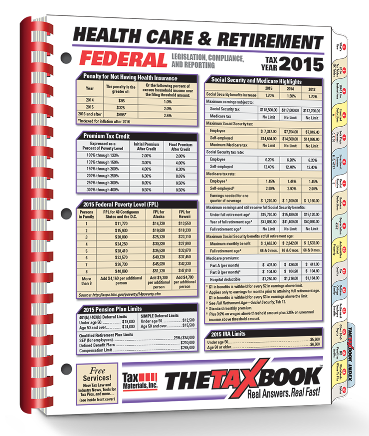 TheTaxBook Health Care & Retirement (2015) - #4513