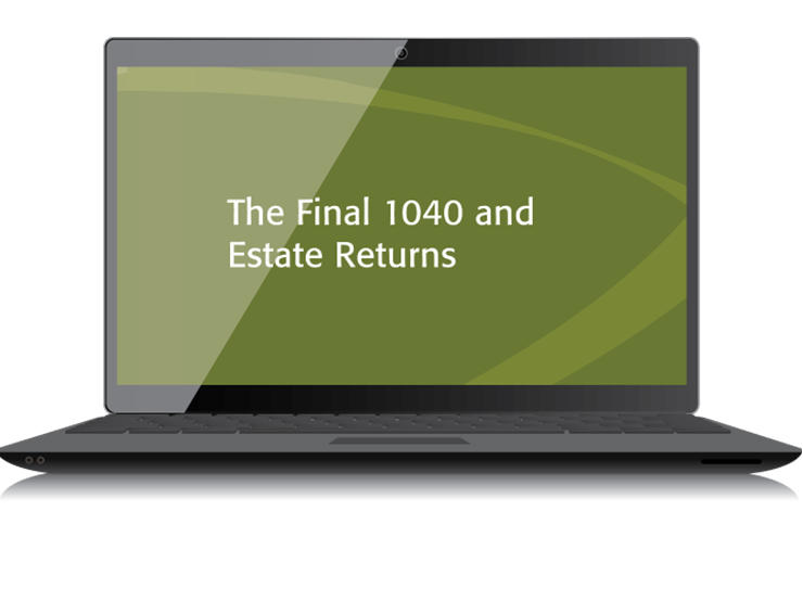 The Final 1040 and Estate Returns Textbook (2015) - Electronic PDF Version - #4519E