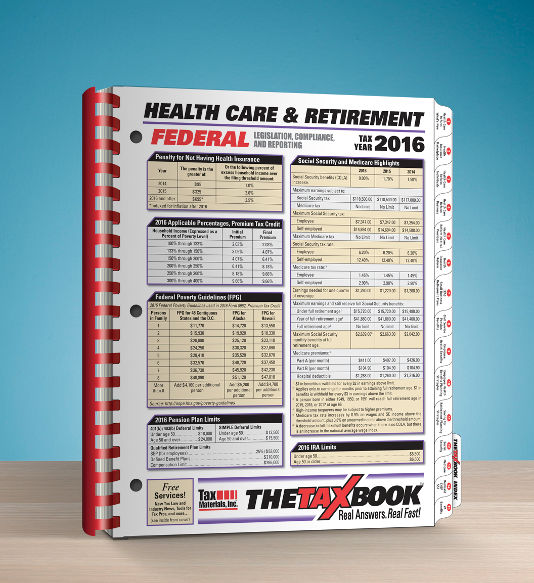 TheTaxBook Health Care & Retirement (2016) - #4613