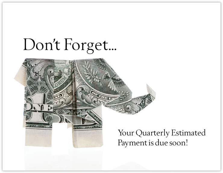 Estimated Tax Payment Reminder Postcards - #663
