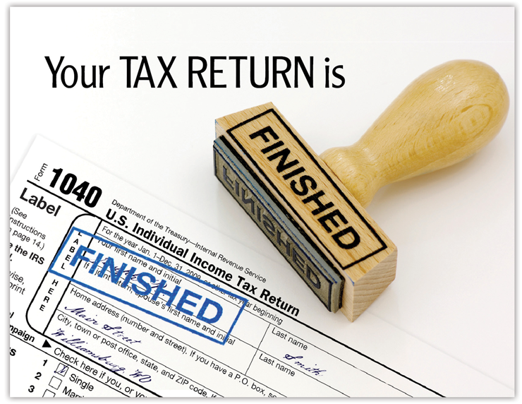Your Tax Return is Finished Postcards - #665C