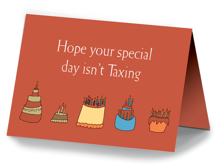 Birthday Cake Card - #675