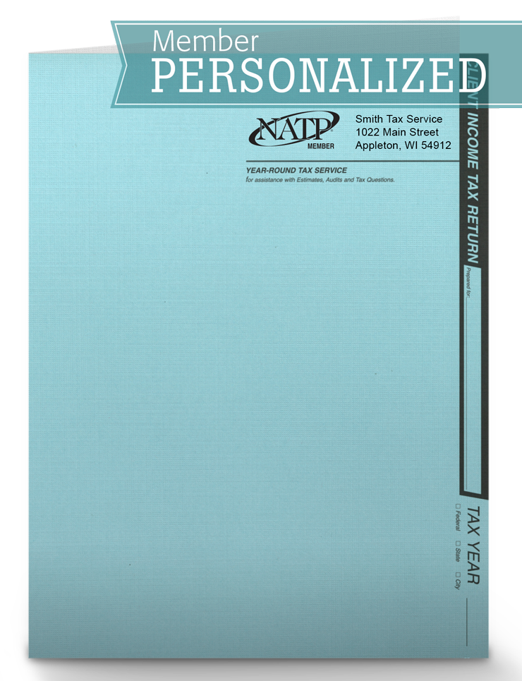 Client Folders - Soft Blue - Personalized - #80121