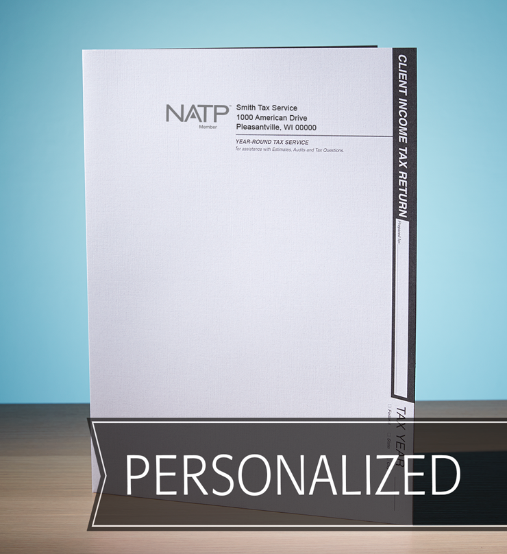 Client Folders - Off-White Recycled w/Pocket - Personalized - #80126
