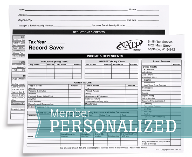 Record Saver Envelope - Personalized - #80131