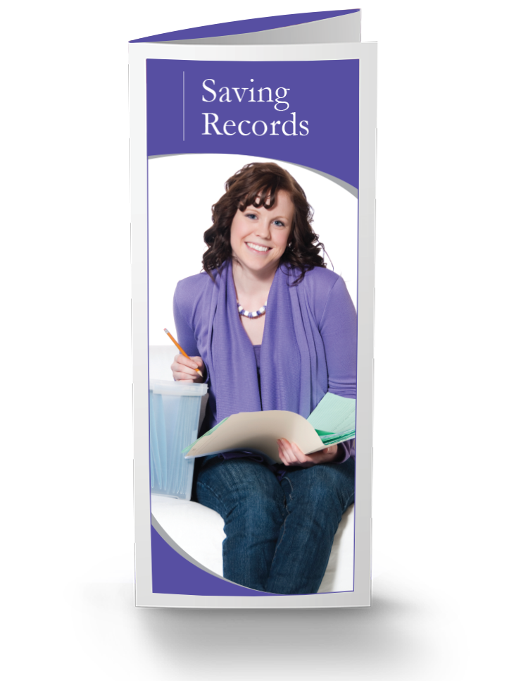 Saving Records Brochures - 25/Pkg - #813