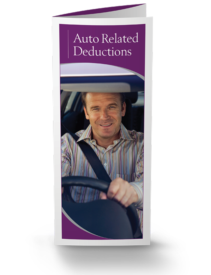 Auto Related Deductions Brochures - 25/pkg - #854
