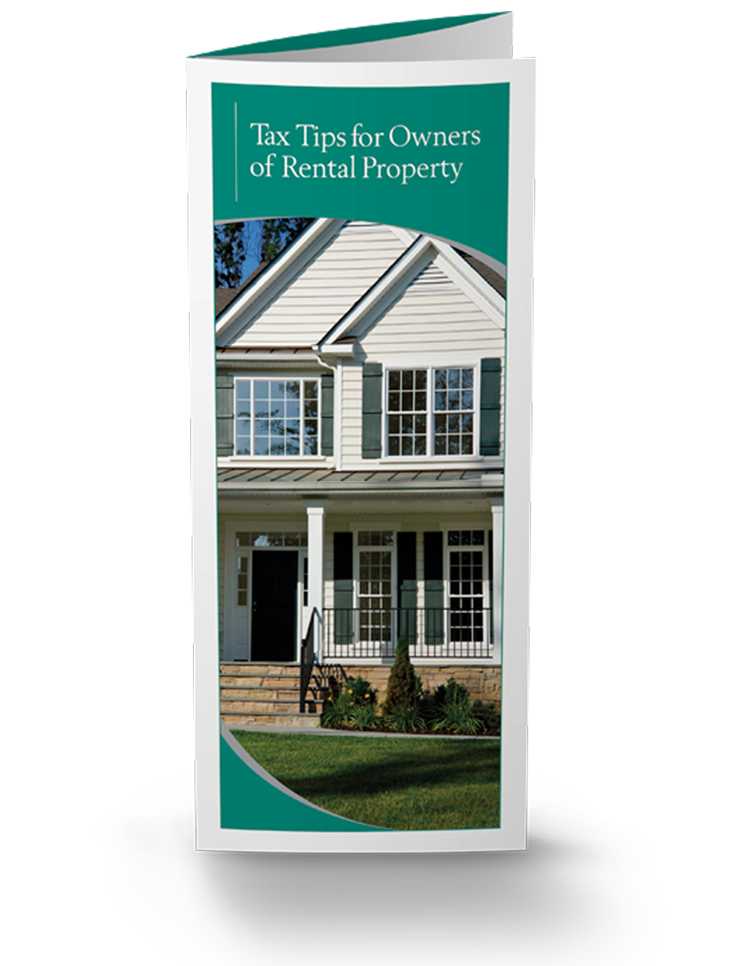 Tax Tips for Owners of Rental Property Brochures - 25/Pkg - #862