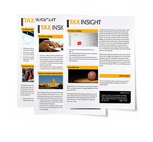TAX INSIGHT Client Newsletter - Downloadable 12-Month Subscription (2016) - #887