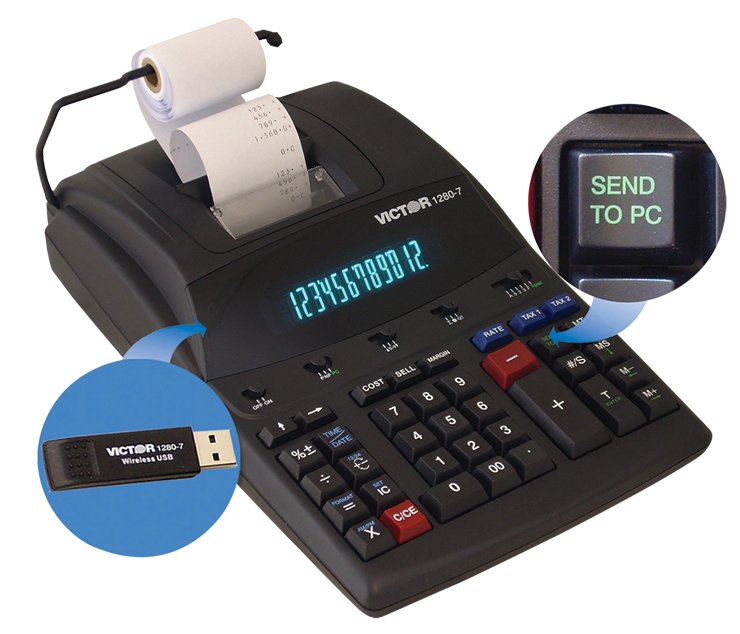 12-Digit Heavy Duty Commercial Printing Calculator With Wireless Data Relay - #901