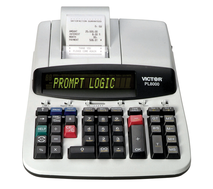 14-Digit Heavy Duty Commercial Printing Calculator With Prompt Logic™ and HELP Key - #902