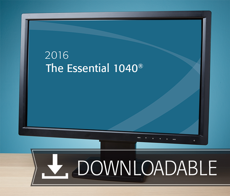 The Essential 1040 Textbook (2016) – Electronic PDF Version - #E3601