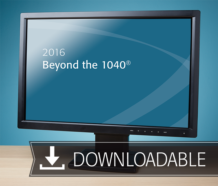 Beyond the 1040 Textbook (2016) – Electronic PDF Version - #E3602
