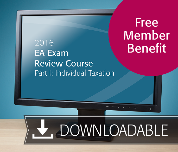 EA Exam Review Course Part I Textbook (2016) - Electronic PDF Version - Free With EA Member Benefit - #E3603