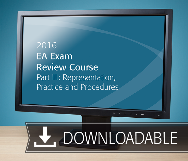 EA Exam Review Course Part III Textbook (2016) - Electronic PDF Version - #E3605