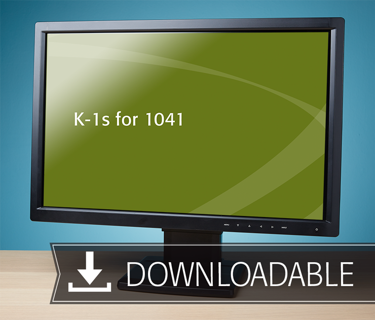 K-1s for 1041 Textbook (2016) – Electronic PDF Version - #E3622