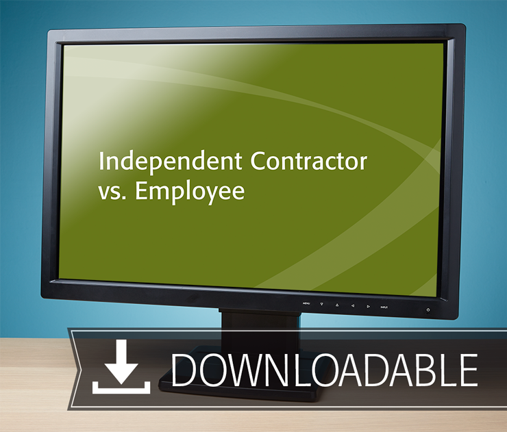 Independent Contractor vs. Employee Textbook (2016) – Electronic PDF Version - #E3632