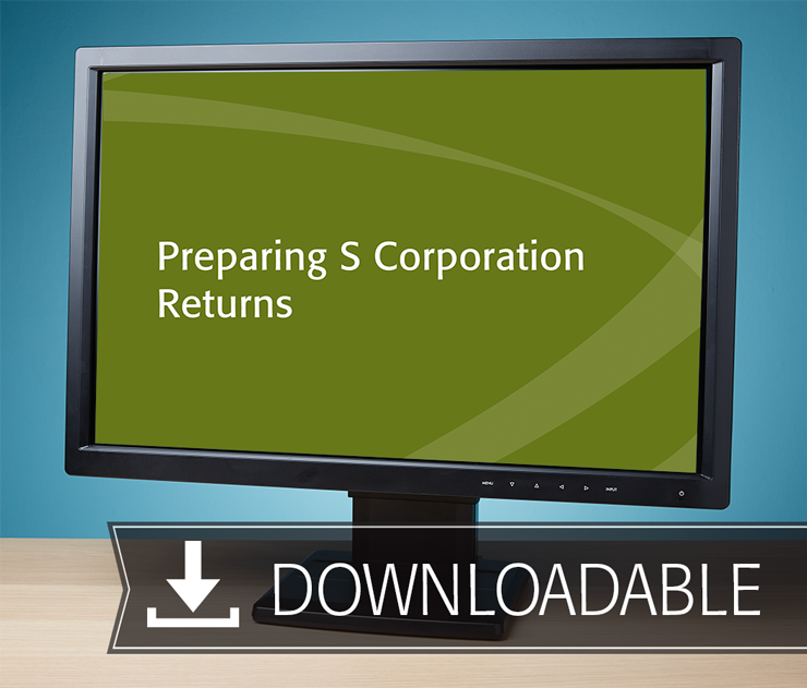 Preparing S Corporation Returns Textbook (2016) – Electronic PDF Version - #E3648S