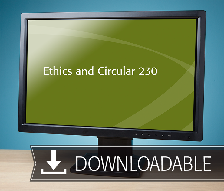 Ethics and Circular 230 Textbook (2016) – Electronic PDF Version - #E3652