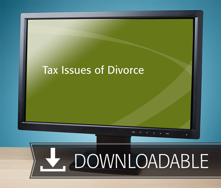 Tax Issues of Divorce Textbook (2016) - Electronic PDF Version - #E3657