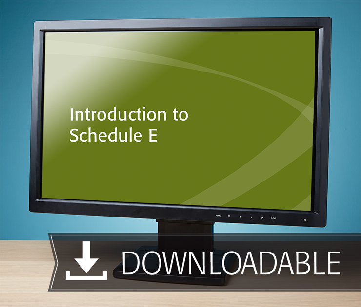 Introduction to Schedule E Textbook (2016) – Electronic PDF Version - #E3676