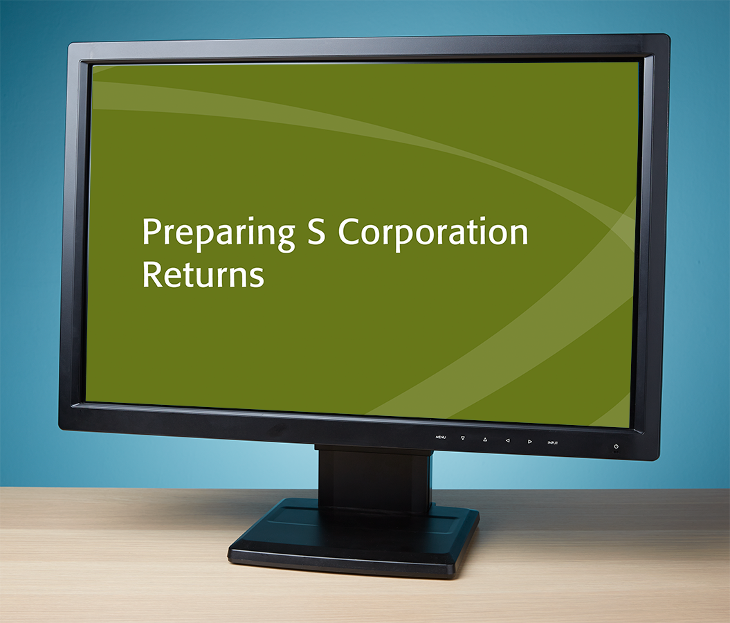 Preparing S Corporation Returns Textbook (2017) – Electronic PDF Version - #E3748S