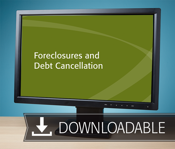 Foreclosures and Debt Cancellation Textbook (2016) – Electronic PDF Version - #E4616