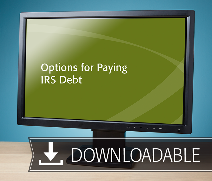 Options for Paying IRS Debt Textbook (2016) – Electronic PDF Version - #E4617