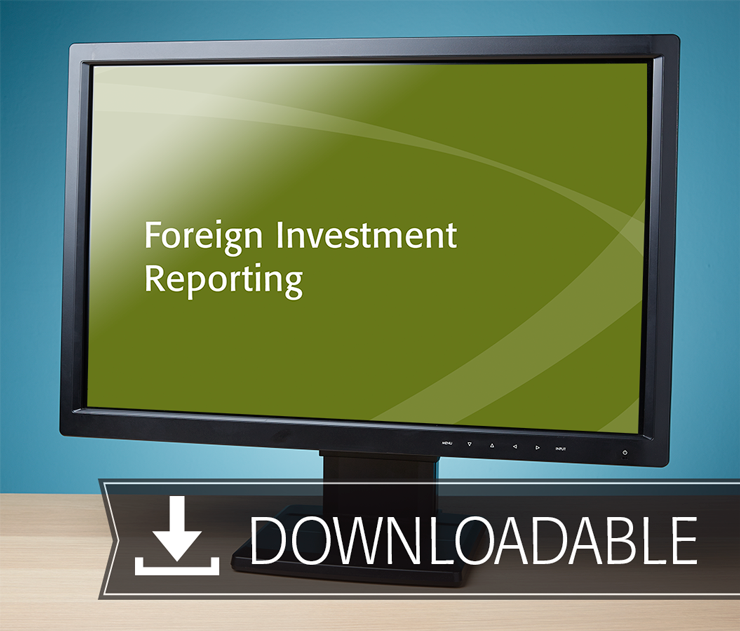 Foreign Investment Reporting Textbook (2016) – Electronic PDF Version - #E4633