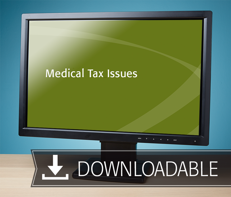 Medical Tax Issues Textbook (2016) – Electronic PDF Version - #E4634