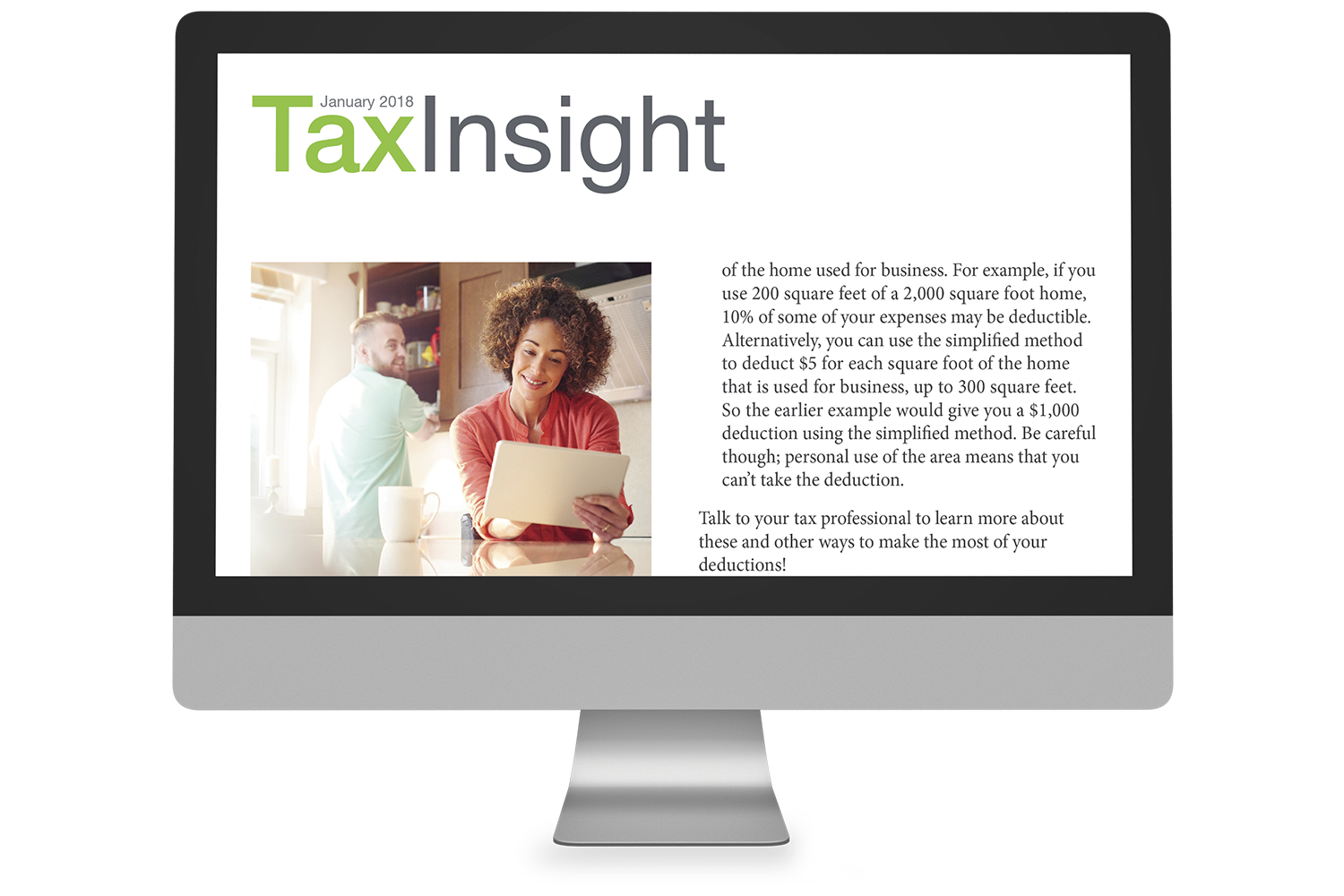 TAX INSIGHT Client Newsletter - Downloadable 12-Month Subscription (2018) - #ES882