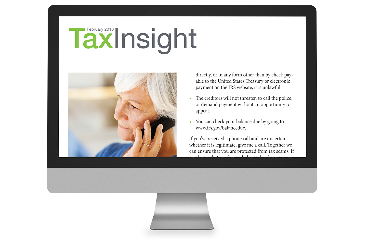 TAX INSIGHT Client Newsletter - Downloadable 6-Month Subscription (July-December 2018) - #ES883