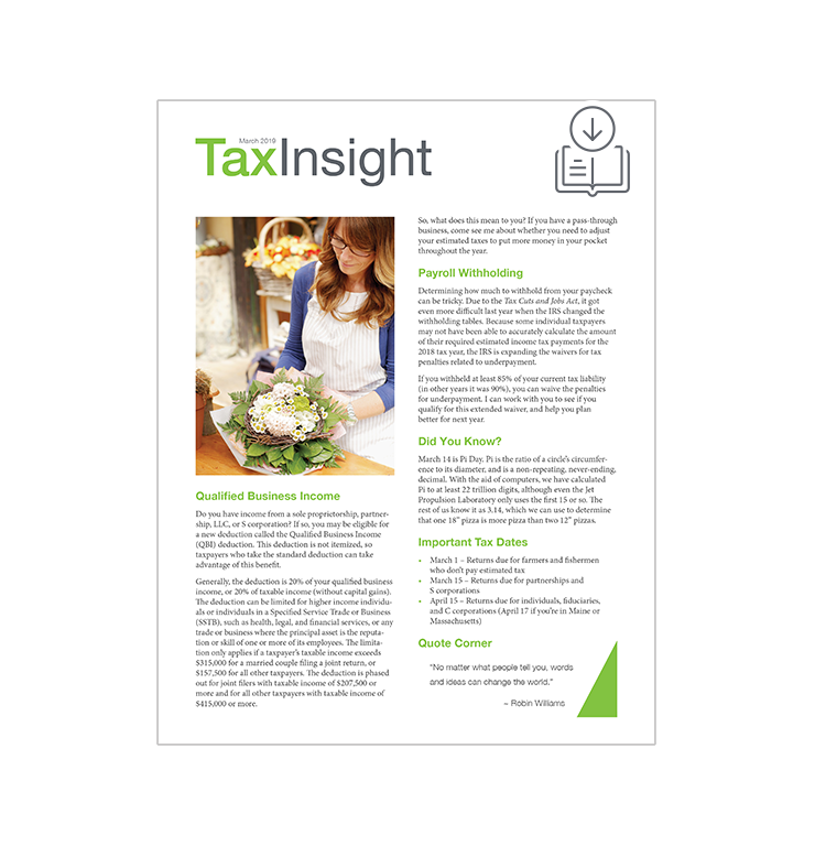 TAX INSIGHT Client Newsletter - Downloadable 12-Month Subscription (2020) - #ES886