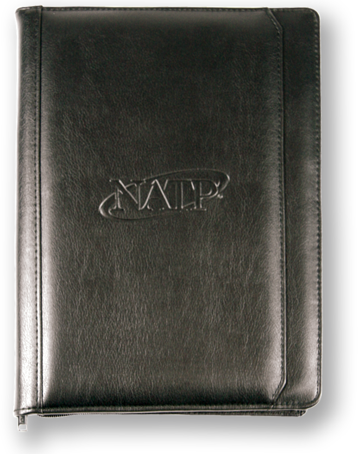 Zippered Padfolio in Black - Members Only - #N004