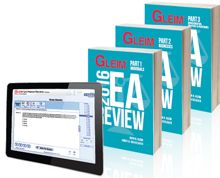 Gleim EA Review Books & Test Prep Online – Parts 1, 2 & 3 (2016) - #OAB3665S
