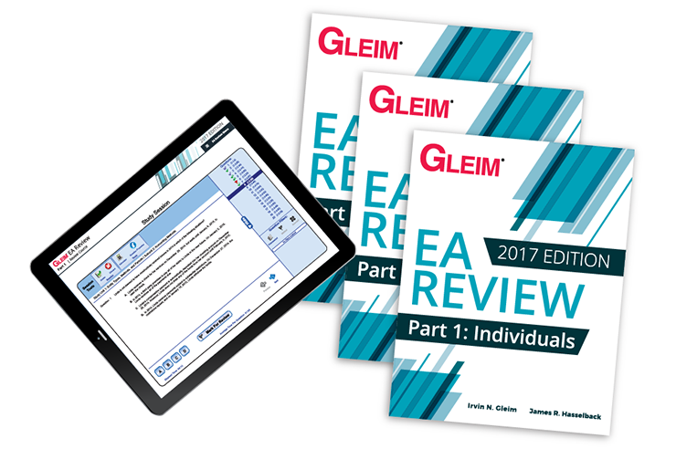 Gleim EA Review Books & Test Prep Online – Parts 1, 2 & 3 (2017) - #OAB3765S
