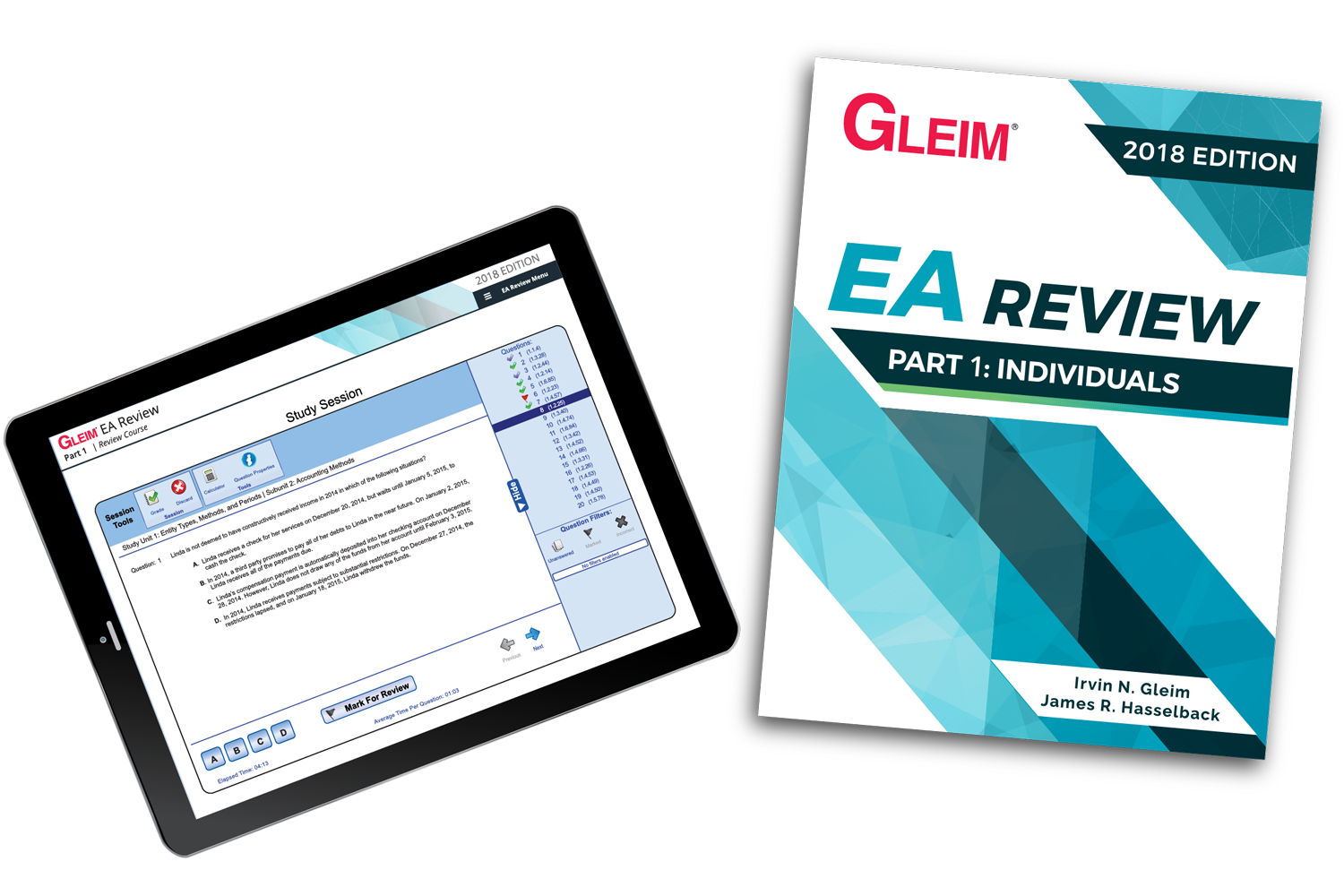 Gleim EA Review Book & Test Prep Online – Part 1 (2018) - #OAB3861S
