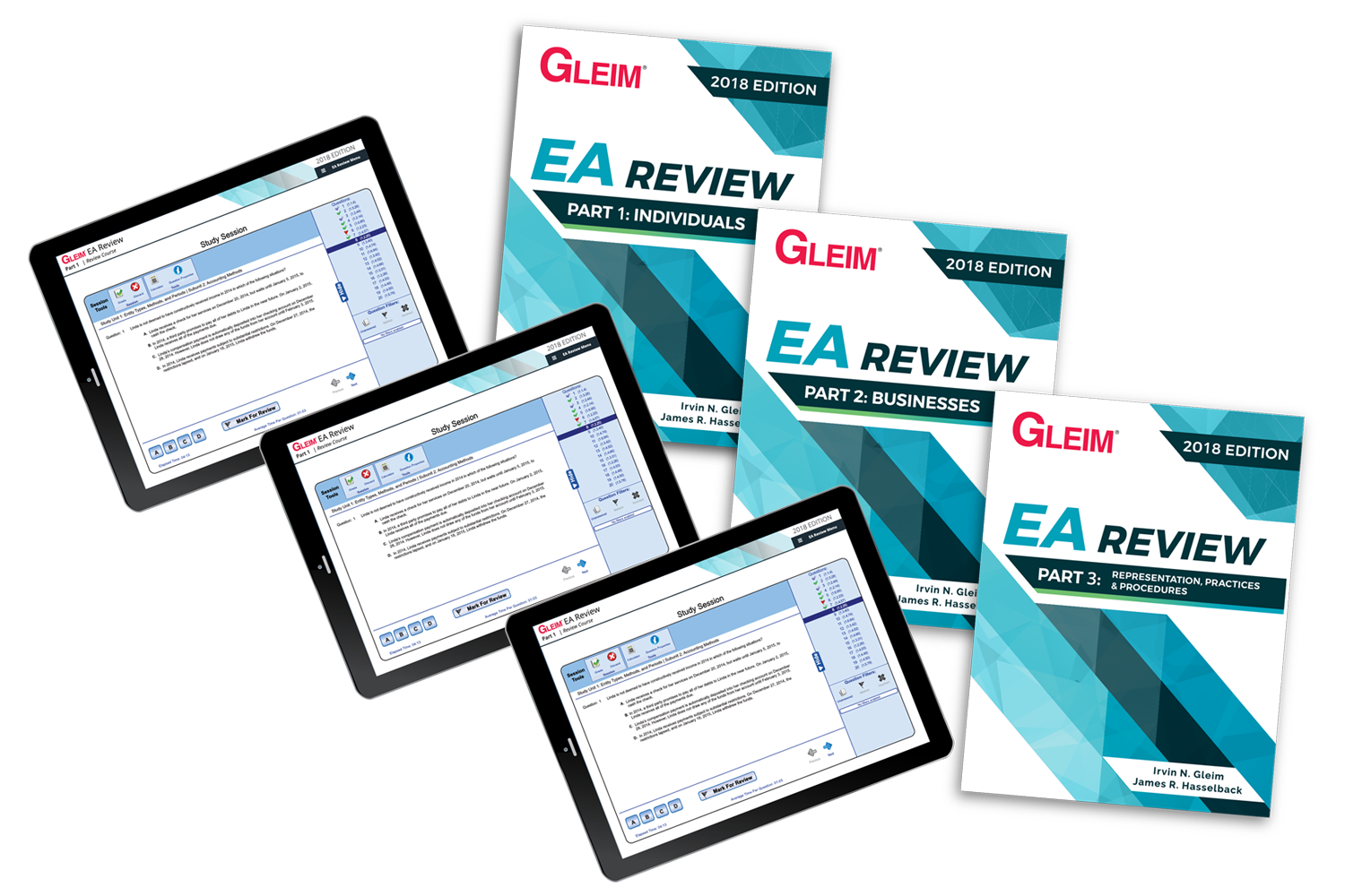 Gleim EA Review Books & Test Prep Online – Parts 1, 2 & 3 (2018) - #OAB3865S