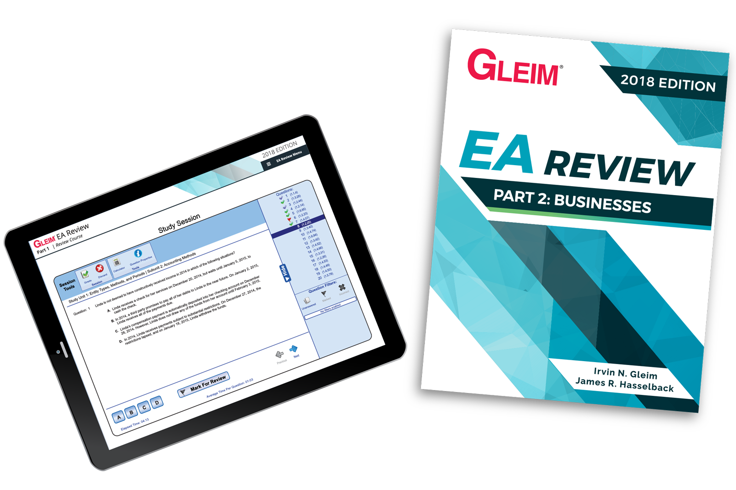 Gleim EA Review Book & Test Prep Online – Part 2 (2018) - #OAB3862S