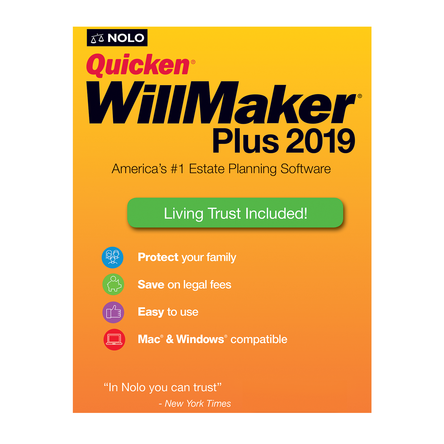 NOLO Quicken WillMaker Plus (2019) - #OAE4774