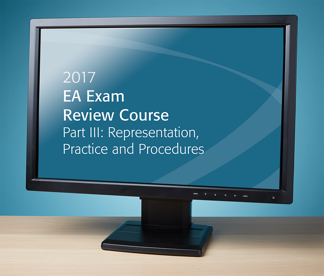 EA Exam Review Course Part III Streamed Recording (2017) - #R3705
