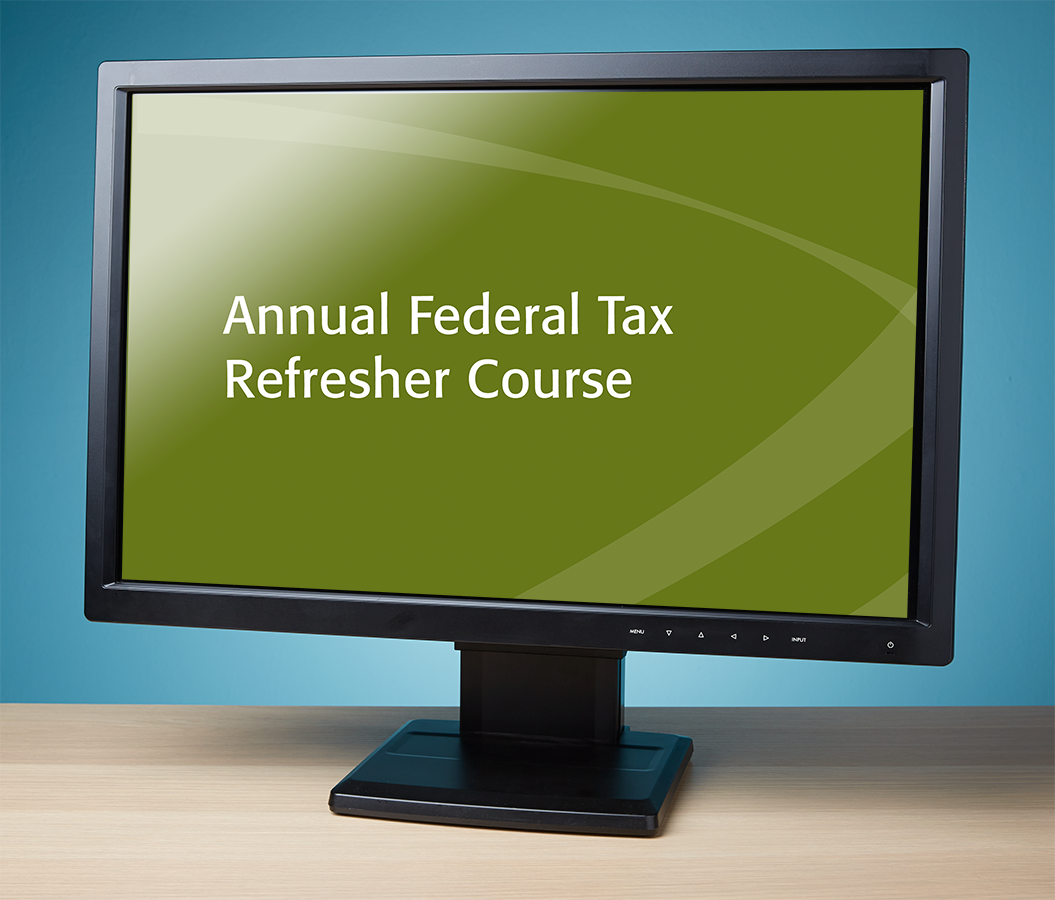 Annual Federal Tax Refresher Workshop Streamed Audio Recording (2016) - #R4640