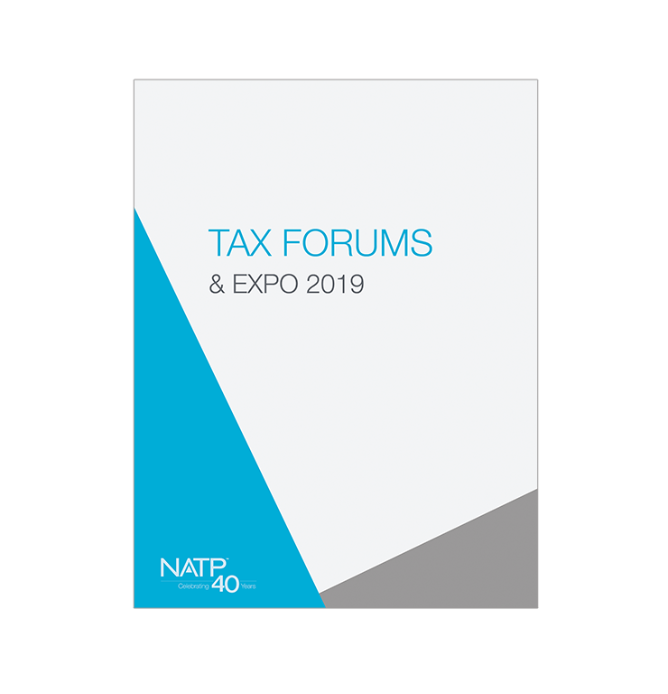 2019 NATP Tax Forum - Ultimate Downloadable/Streamed Recordings with E-book - #TF19RE